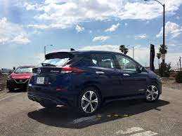 nissan leaf interior 2018 nissan leaf first drive better without branching out the verge