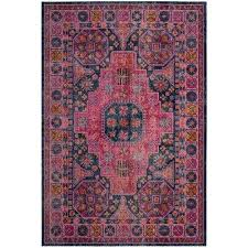 Fuchsia Rug Border Pink 5 X 8 Area Rugs Rugs The Home Depot