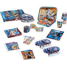 wars party supplies clone wars birthday party supplies pack for 8 walmart