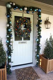 Christmas Decorations Outdoor Garland by Fascinating Home Porch Outdoor Christmas Decor Display Harmonious