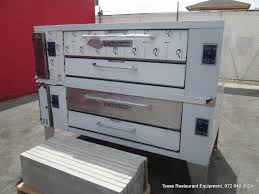 dallas inventory bakers pride gas double deck pizza oven