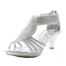 jjf shoes angel37 silver strappy rhinestone dress sandal low heel