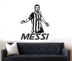 aliexpress com buy messi cool wall stickers service soccer aliexpress com buy messi cool wall stickers service soccer player barcelona wall decal morden design shopping boy bedroom aplicable art muralsyy412 from