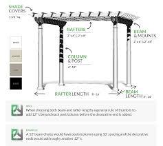 Span Tables For Pergolas by Freestanding Pergola Kit Plastic Lumber Yard
