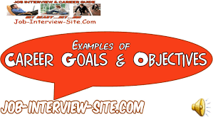 career goals and objectives examples youtube