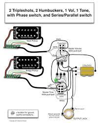 seymour duncan wiring diagram 2 2 humbuckers 1 vol