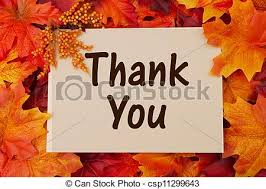 stock photo of thank you card with fall leaves thankful at