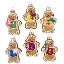 celebrations by radko mini gingerbread glass ornaments