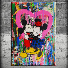 aliexpress com buy canvas painting alec monopoly mickey and