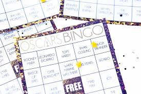 free printable oscars bingo cards play party plan