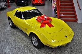 black and yellow corvette seller of cars 1974 chevrolet corvette yellow black