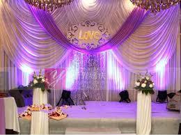 Wedding Stage Decoration Luxury Violet Wedding Stage Decoration Lilac Wedding Backdrop With