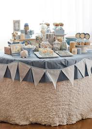 Baby Blue And Brown Baby Shower Decorations Pretty Blue And White Dessert Table For A Baptism Or Baby Shower