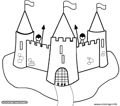 Coloriage Chateau Fort Maternelle dessin