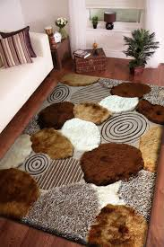 Rust Shag Rug Beige With Brown Pattern Shag Rug Cores Tapetes Felpudos E Produtos