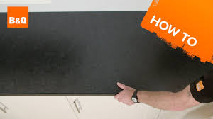 B Q How To Lay Laminate Flooring How To Fit A Kitchen Worktop Youtube