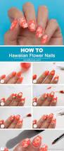 hawaiian flower nail art tutorial