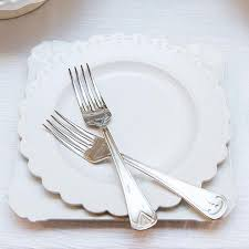 wedding silverware and groom wedding cake plate and silverware ceremony set