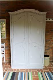 armoire painted with annie sloan chalk paint old white and top