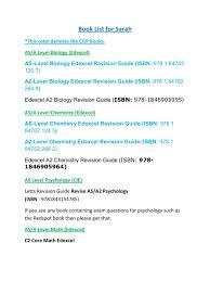textbook lists