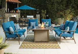 Patio Furniture Cleveland Ohio by Signature Design By Ashley Partanna 5 Piece Outdoor Fire Pit Set