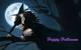 halloween background witch moon witch wallpaper