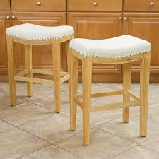 Furniture Bar Stool Chairs Backless by Furniture Nailhead Leather Bar Stool Gi Stools Swivel Counter