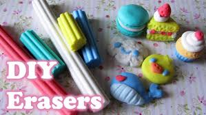 make your own erasers with eraser clay 5 different shapes