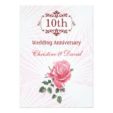 10th wedding anniversary cards greeting u0026 photo cards zazzle