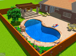 bedroom awesome backyard pool design mesmerizing effect for your