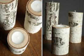 Birch Tree Decor Birch Wood Candle Holders Oleander Palm