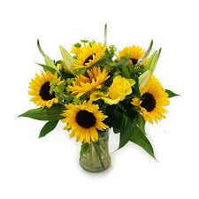 Vase Of Sunflowers The Favourite Child U2013 Lollipop Flowers U2013 Free Delivery In Dublin