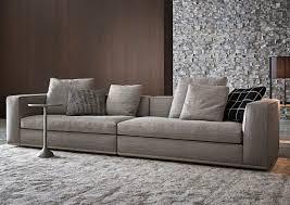 canapé contemporain en tissu par rodolfo dordoni marron