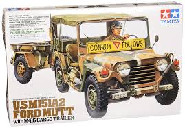 jeep model kit amazon com tamiya 35130 m151a2 jeep mutt with cargo trailer 1 35