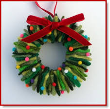 sweater christmas wreath ornament u2013 felting