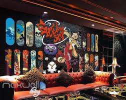 3d graffiti freestyle surfer brick wall murals wallpaper wall art 3d graffiti freestyle surfer brick wall murals wallpaper wall art decals decor idcwp ty