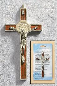 wall crucifixes benedict wall crucifix