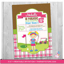 custom invites golf invitation printable personalized golf birthday party