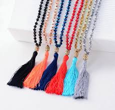 aliexpress bead necklace images Classic half plating crystals buddha long tassel beads necklace jpg