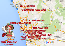 San Diego State Map by Frankie Foto Scouting For San Diego U0027s Best Pollo Asado Joints
