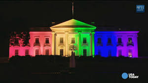 Rainbow Us Flag White House Turns To Rainbow After Marriage Ruling
