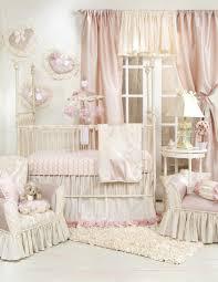 Silk Crib Bedding Set with Gorgeous Vintage Baby Bedding Silk Nursery Curtain Pink Tufted