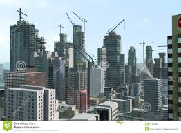 Modern City by Modern City Under Construction Stock Images Image 11237384