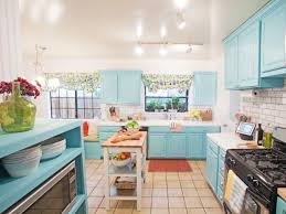 kitchen modern cottage blue kitchen cabinets and decorations