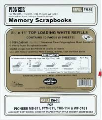 pioneer photo album refill pages pioneer scrapbook album refill pages rw 85 white 5 sheets top