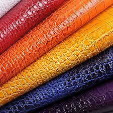 Leather Fabric For Sofa 50x135cm Faux Crocodile Leather Sofa Material Vinyl Leather