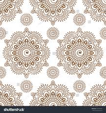 seamless henna pattern mehndi floral lace stock vector 547052035