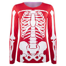 Skeleton Bones For Halloween by Womens Halloween Costume T Shirt Ladies Skeleton Bones Fancy Dress