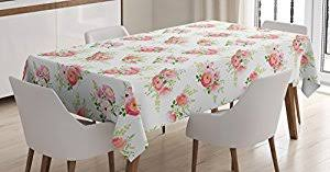 amazon com shabby chic tablecloth by ambesonne nostalgic