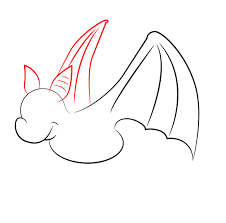 how to draw bat wings step by step